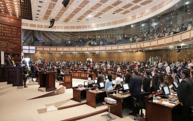 """El asambleísta Pabel Muñoz, sugirió """"requerir a la Corte Constitucional que, en el análisis para la emisión del dictamen de constitucionalidad"""". Foto: Asamblea"""