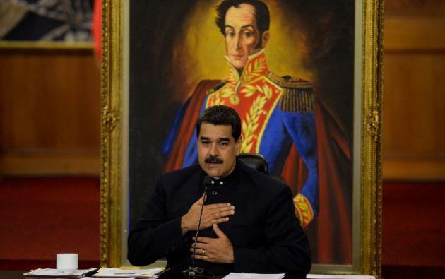 """""""El default nunca llegará"""", había dicho el domingo, Maduro. Foto: AFP"""