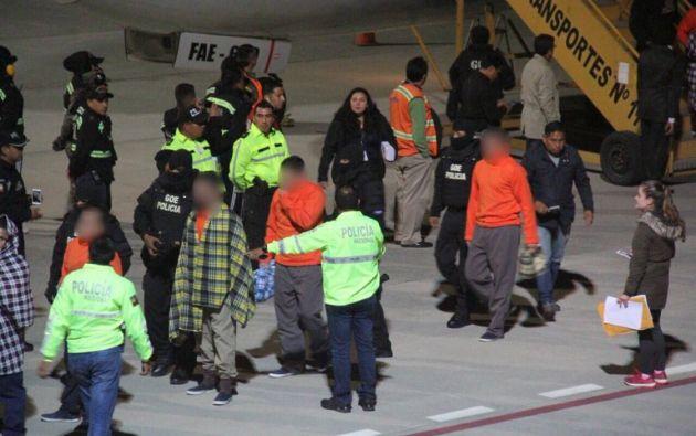 El traslado de los convictos fue posible tras el acuerdo de cooperación suscrito con Estados Unidos el pasado 16 de octubre. Foto: Cancillería