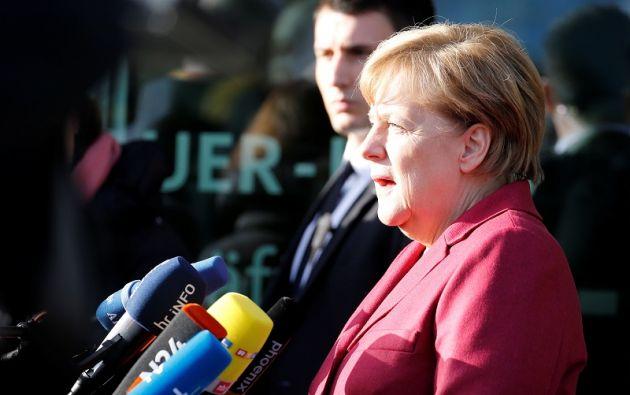 """Tras el fracaso de las negociaciones, la canciller había prometido """"hacer todo lo posible para que el país esté bien dirigido en las difíciles próximas semanas"""". Foto: Reuters"""