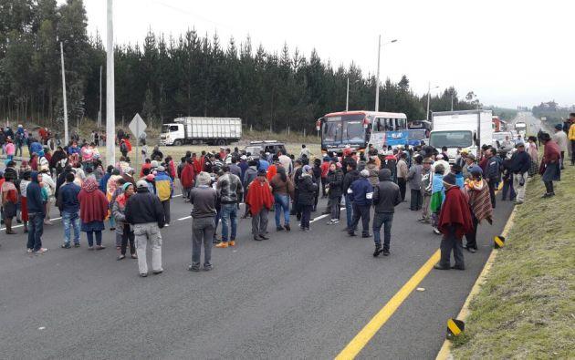 La medida se desarrolló durante dos horas, a partir de las 06h00, como protesta a la falta de atención rural. Foto: Twitter