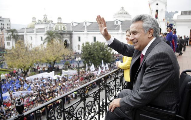 A principios de octubre, Moreno anunció la convocatoria a consulta popular y envió el contenido de las preguntas a la Corte Constitucional. Foto: Presidencia