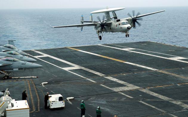 El avión se estrelló en aguas del Mar de Filipinas al sudeste de Okinawa, Japón. Foto: Reuters