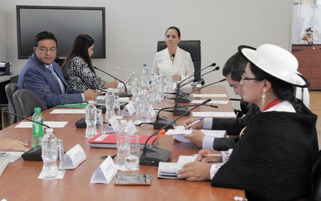 La sesión #18 se reinstaló este 23 de noviembre para analizar los pedido de amnistías que solicitaron representantes de los pueblos y nacionalidades. Foto: Asamblea