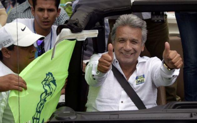 Moreno llegó al poder tras una dura campaña en la que el oficialismo enfrentó numerosas denuncias de corrupción por parte de la oposición. Foto: AFP