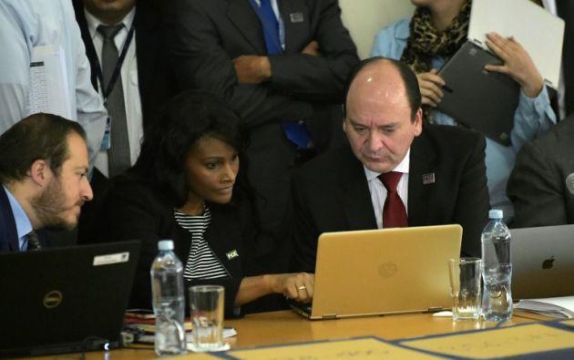 Fiscalía continúa presentando las pruebas testimoniales en la audiencia. Foto: AFP