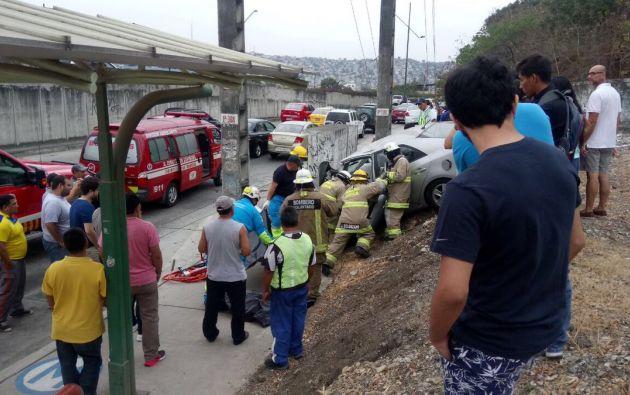 Guayaquil, Av. del bombero altura Bim Bam Bum Ceibos. Foto: Twitter