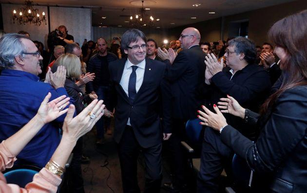 Puigdemont se encuentra en Bélgica desde el 30 de octubre junto a cuatro exconsejeros de su Gobierno. Foto: Reuters