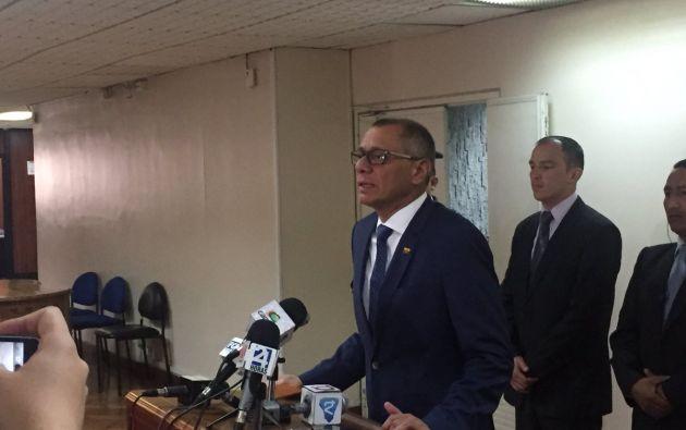 La Fiscalía acusó a Glas de beneficiarse de $13,5 millones en sobornos pagados por Odebrecht. Foto: @JacquelineRodas