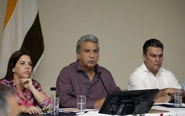 Los titulares del Ejecutivo y del Legislativo acordaron impulsar la aprobación del proyecto de Ley hasta febrero de 2018. Foto: Presidencia