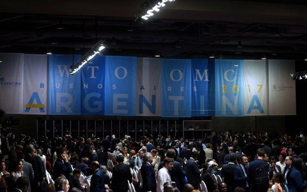 El acto contó, entre otros, la presencia de los presidentes de Brasil, Michel Temer; Paraguay, Horacio Cartes; y Uruguay, Tabaré Vázquez. Foto: Reuters