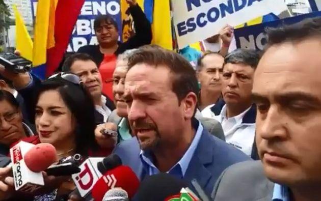 """Monge afirmó que impedirán que las supuestas revelaciones que hizo Mangas, """"mano derecha del presidente Lenín Moreno"""", queden en la impunidad. Foto: Captura"""