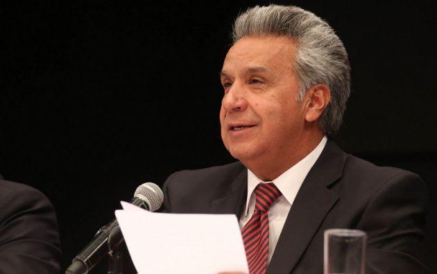 """""""El proyecto de ley es vital para la recuperación económica, fue aprobado, pero con algunas modificaciones"""", dijo Moreno. Foto: Presidencia"""