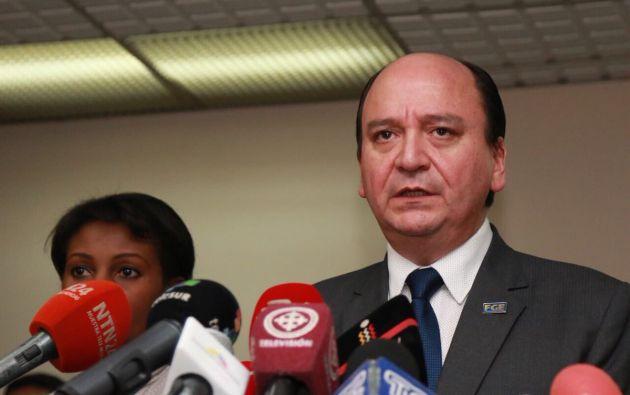 """Baca dijo a la prensa que se """"ha dispuesto que la Fiscalía General del Estado abra nuevas investigaciones sobre otras infracciones. Foto: Fiscalía"""