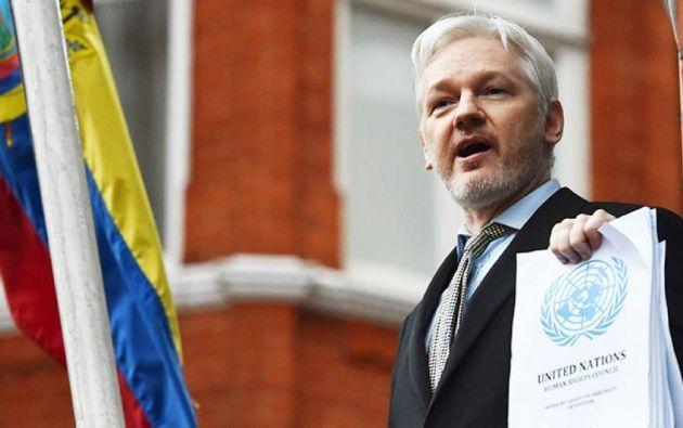 Assange, asilado en la embajada de Ecuador en Londres desde 2012, comenta frecuentemente en las redes sociales asuntos de actualidad en otros Estados. Foto: archivo
