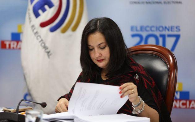 La vicepresidenta del Consejo Nacional Electoral (CNE), Ana Marcela Paredes, participará como observadora internacional en la segunda vuelta de los comicios presidenciales en Chile. Foto: Archivo