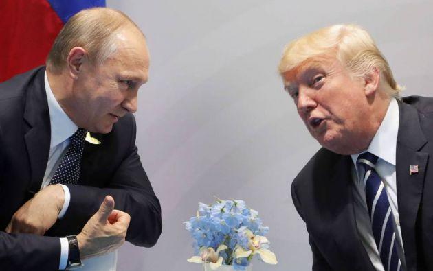 Putin agradece a Trump la ayuda para desmantelar atentados en Rusia. Foto: AFP