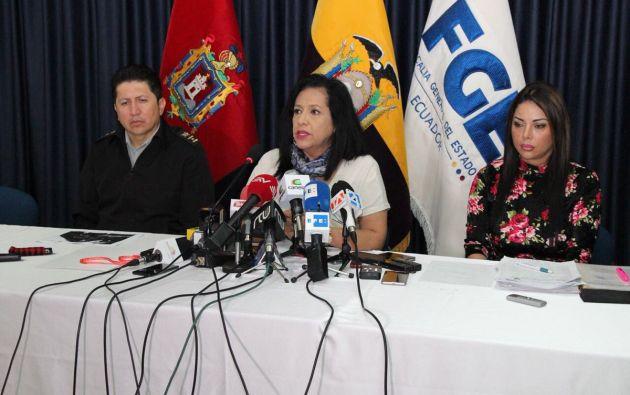 Este 26 de diciembre durante rueda de prensa, la fiscal encargada, Thania Moreno, informó las acciones emprendidas en relación al caso. Foto: Fiscalía
