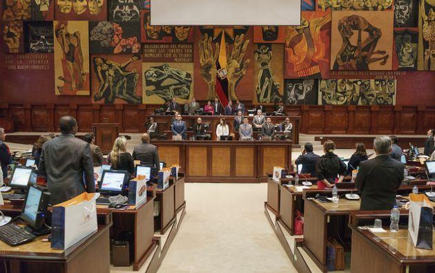 El asambleísta Ricardo Zambrano cree que el juicio político es necesario, porque la Asamblea necesita tener una posición política con relación al caso. Foto: Asamblea