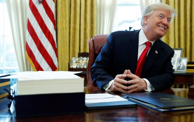 El presidente encara 2018 con el grado de aprobación más bajo de todos sus antecesores de la era moderna tras un año en el cargo. Foto: Reuters