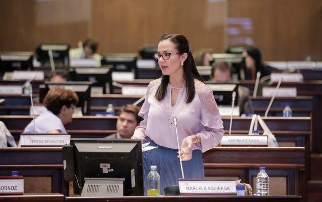 Aguiñaga expuso los criterios relevantes que se incluyeron para el segundo debate. Foto: Asamblea
