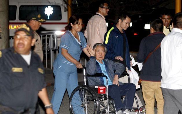 El exmandatario salió ayer de alta de la clínica Centenario, en la que estuvo internado 12 días por problemas cardíacos. Foto: Reuters