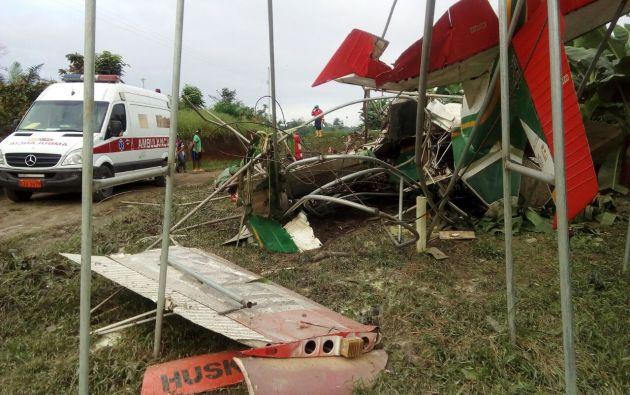 Se coordinó la ayuda con los organismos de rescate. | Foto: Cuerpo de Bomberos de Quinindé