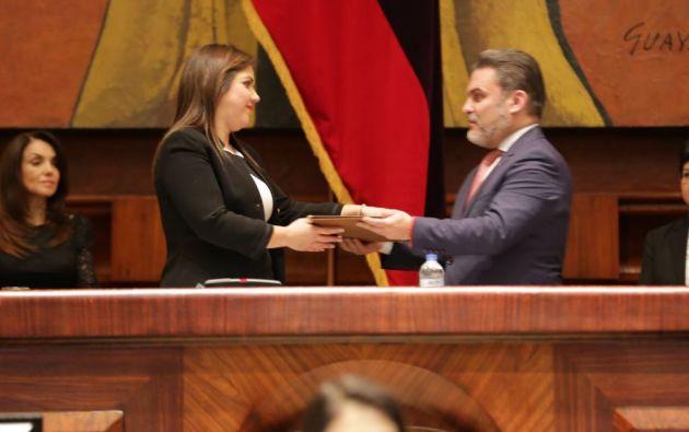 Vicuña es la segunda mujer en ocupar este cargo en la historia del país. Foto: Secom