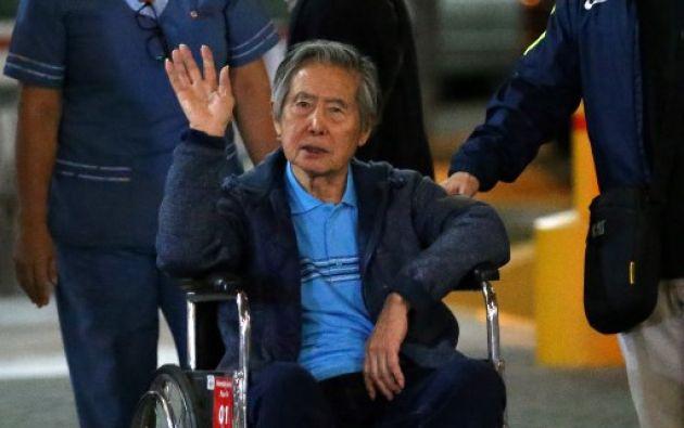 Fujimori está entre los 15 principales deudores condenados por corrupción en Perú. Foto: AFP