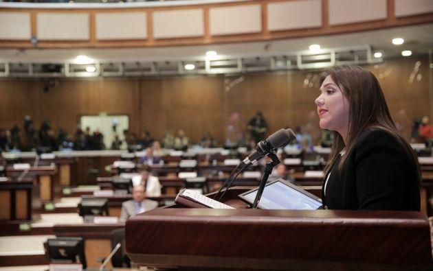 La Vicepresidenta dijo que cumplirá la orden del pueblo de erradicar cualquier expresión de corrupción. Foto: Asamblea