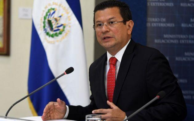 El canciller de El Salvador, Hugo Martínez.