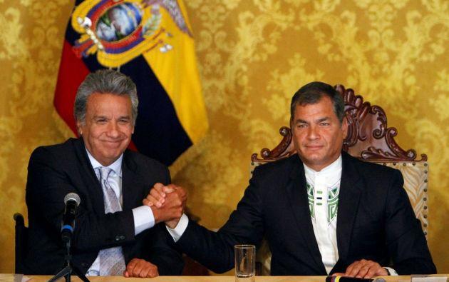 Moreno y Correa son ahora acérrimos rivales políticos y, mientras el primero tilda a su oponente de haber aupado una gran corrupción, el segundo le replica y califica de traidor y desleal. Foto: archivo
