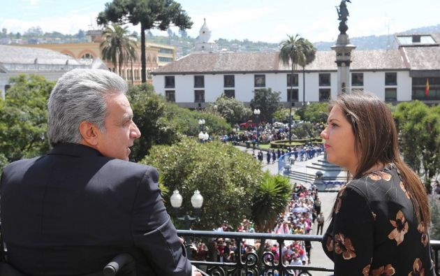 El 6 de enero de 2018, la Asamblea Nacional designó a María Alejadra Vicuña como la nueva vicepresidenta de la República. Foto: Presidencia