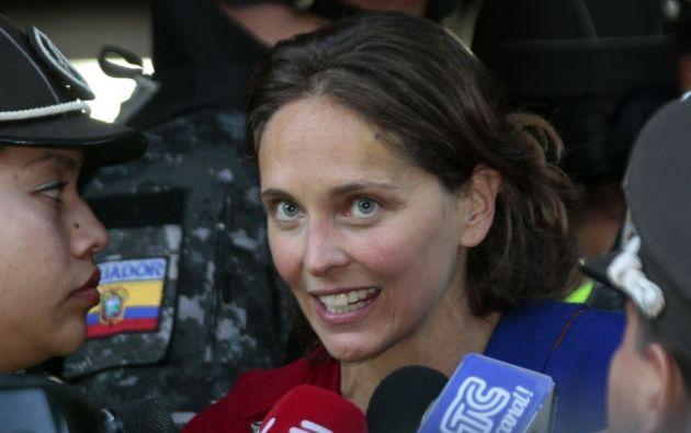 """La Canciller, en rueda de prensa, explicó que Picq, """"como cualquier visitante temporal en el país, tiene derecho a ingresar y permanecer en Ecuador"""". Foto: archivo"""