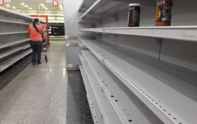 Venezuela atraviesa una aguda crisis económica, caracterizada por una severa escasez de alimentos y medicinas. Foto: AFP