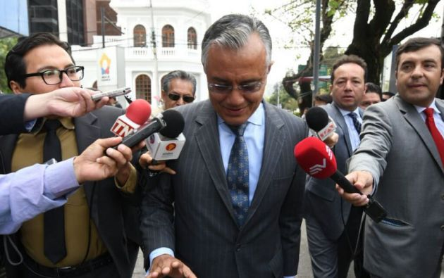 Alexis Mera insistió el viernes en que la notificación es un tema político. Foto: Archivo.