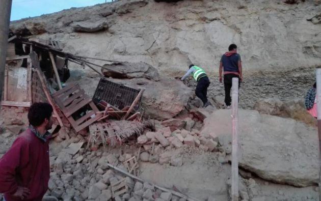 Vivienda de Justo Palomino Yucra, quien fue aplastado por una roca. Foto: Tomado de El Comercio de Perú.