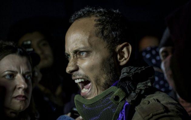 """""""Le quiero pedir a Venezuela que no desfallezcan, que luchen, que salgan a las calles, es hora que seamos libres, y solo ustedes tienen el poder ahora"""", recalcó Pérez. Foto: AFP"""