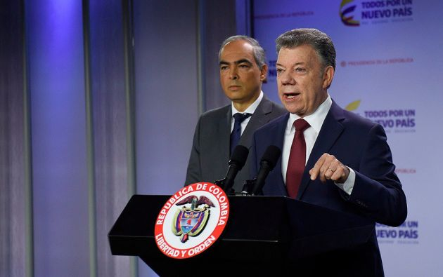 A raíz de la arremetida insurgente, el presidente colombiano Juan Manuel Santos dejó en suspenso los diálogos. Foto: Twitter