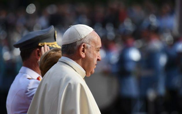 """""""No puedo dejar de manifestar el dolor y la vergüenza que siento ante el daño irreparable causado a niños por parte de ministros de la Iglesia"""", dijo el Papa. Foto: AFP"""