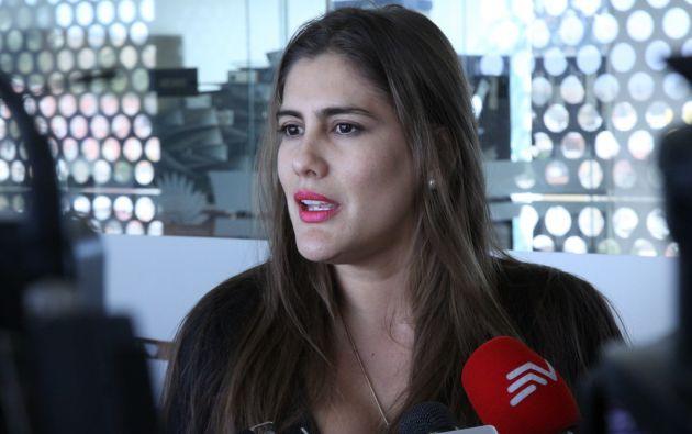 """""""Las opiniones no van a ser acalladas cada vez que a ellos les moleste; durante 10 años se dedicaron a insultar reiteradamente a los ecuatorianos, hoy se elevan al altar moral"""", dijo Reyes. Foto: Asamblea"""