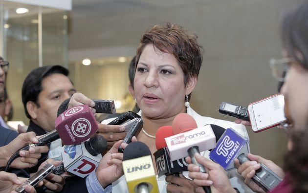 """""""En ningún momento se suspendió ni se archivó el juicio político"""", según la asambleísta. Foto: Asamblea"""
