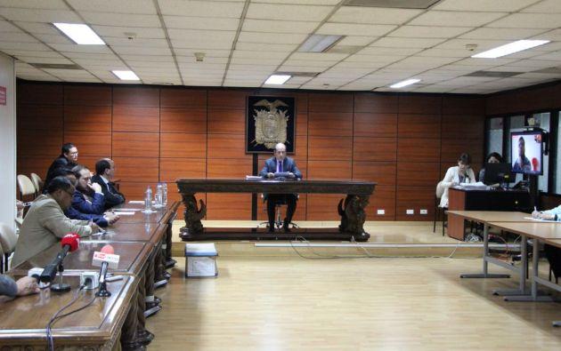 El fiscal presentó 36 elementos de convicción y precisó que Alecksey Mosquera y Raúl E. son autores directos. Foto: Fiscalía