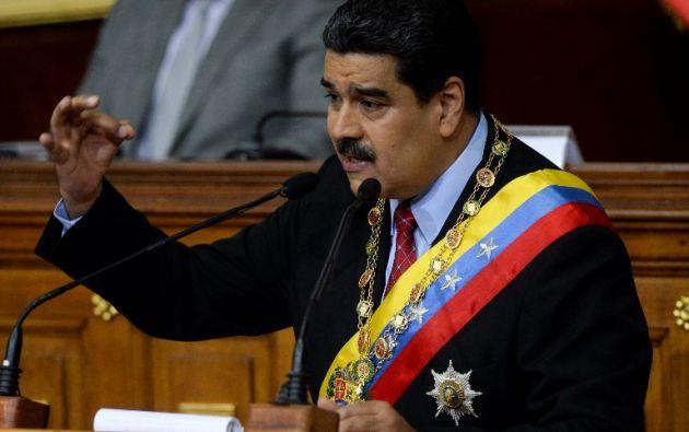 """""""Ayer recibieron la orden del imperialismo y de la derecha mundial de que no se sentaran a dialogar"""", dijo el Mandatario. Foto: AFP"""