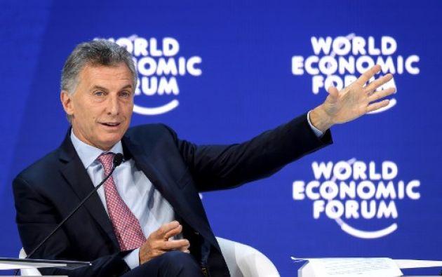 """""""[Ayudaremos] en todo lo que se pueda pero tiene que haber elecciones libres y transparentes lo antes posible"""", dijo Macri. Foto: AFP"""