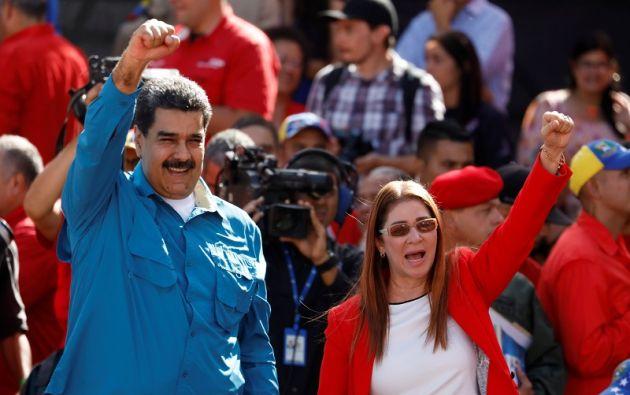 """""""¡Vamos a ganar las elecciones presidenciales y vamos a barrer!"""", clamó Maduro. Foto: Reuters"""