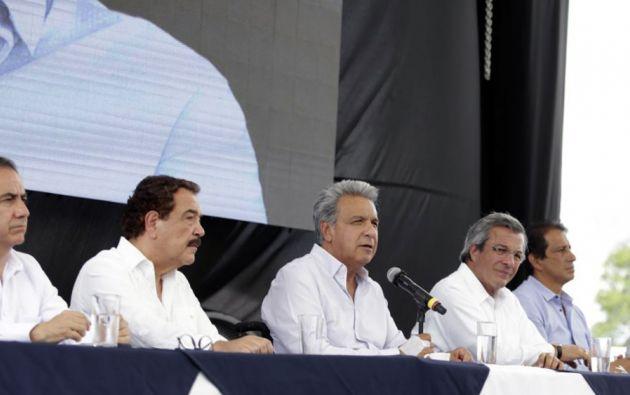 Moreno durante la firma de convenios para la rehabilitación y adecuación con fines turísticos de las esclusas. Foto: Flickr Presidencia.