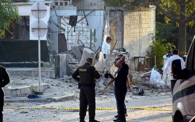 El Frente de Guerra Urbano del ELN se atribuyó ayer la autoría del atentado en Barranquilla, en el que murieron cinco policías. Foto: Reuters
