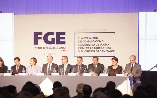 El encuentro Internacional se desarrollará durante dos días en Quito. Foto: Fiscalía