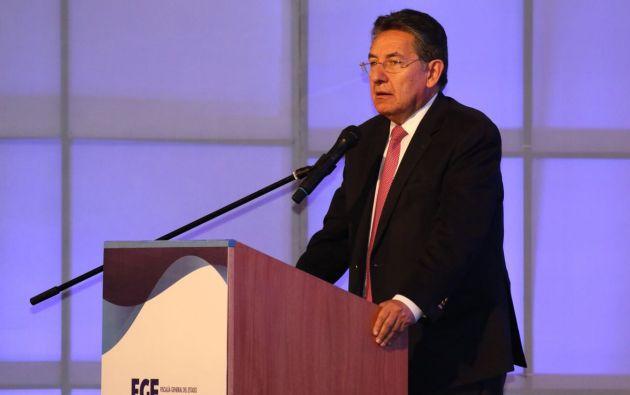 Martínez se solidarizó con el pueblo ecuatoriano y condenó lo ocurrido. Foto: Fiscalía